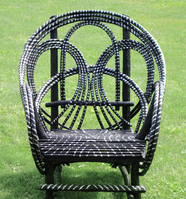 :: Striped Chair :: Rustic Patio Furniture U0026 Willow Chairs | Around The  Bend Willow Furniture